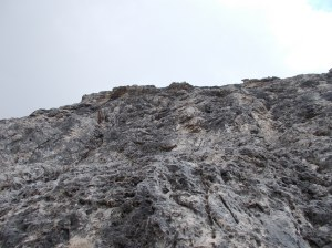 Ultima parete con roccia stupenda