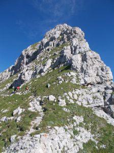 La cresta da forcella dei Furlani