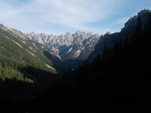 Val Postegae e panorama sugli Spalti di Toro