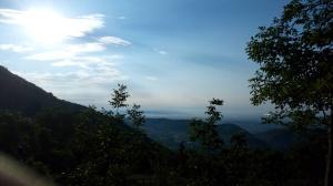 Bel panorama verso valle alla partenza dal Bar da Stale