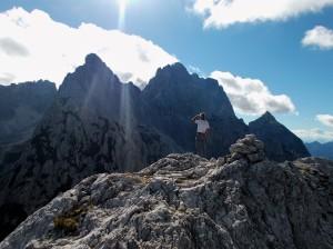 In cima alla Vetta Bella, 2049 metri slm
