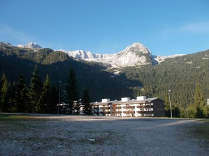 Si parte: Sella Nevea
