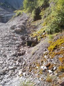 All'inizio del vero sentiero, una sorgente d'acqua freschissima