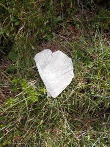 Un cuore per una coppia in montagna