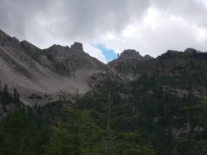 Forcella Val di Brica e il suo pinnacolo