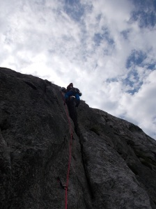 Marco in arrampicata