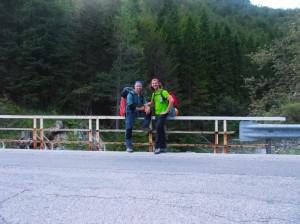 Assieme a Fulvio sul ponte dove ci siamo conosciuti per la prima volta