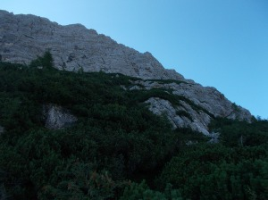 Le pareti delle cime dei Gravinai