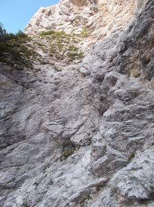 Tratto da scendere arrampicando e che conclude il viaz dei Cengioni
