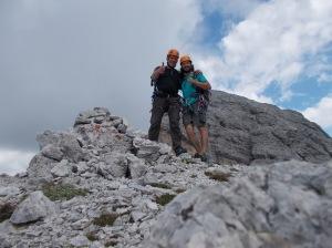 Autoscatto su Cima Livia, 2366 metri slm