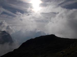 Fra le nubi il Vacalizza