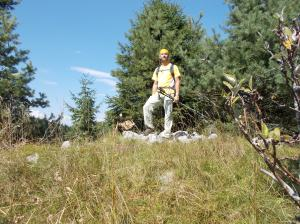 Autoscatto sulla cima del Torrione, 1320 metri slm
