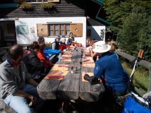 Pranzo al rifugio Pordenone