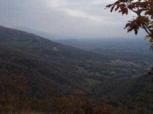 Vista sul santuario della Madonna del Monte