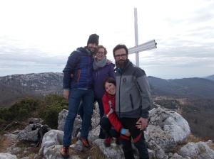 Foto di gruppo sul Ciastelàt, 1641 metri slm