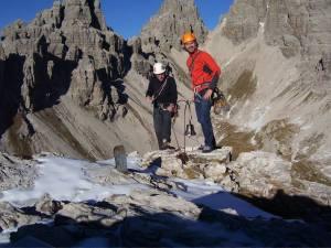 Sulla cima del Campanile di Val Montanaia