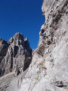 Vedere arrampicare Sergio qui è semplicemente uno spettacolo