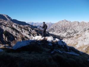 Marco ammira i monti che ci circondano