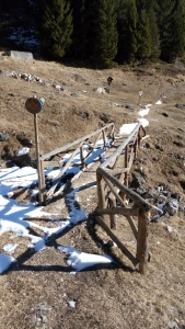 Il ponte nei pressi della casera Girolda
